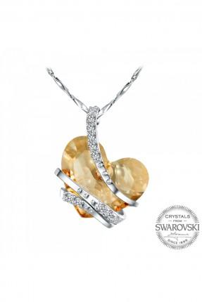 قلادة نسائية موديل قلب - مطلي بالذهب