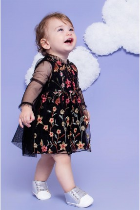 فستان بيبي بناتي - اسود