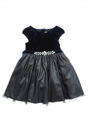 فستان اطفال بناتي _ ازرق داكن