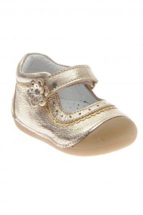 حذاء بيبي بناتي _ ذهبي
