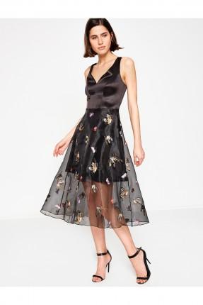 فستان سبور مع تول مزهر