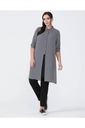 قميص نسائي - رمادي