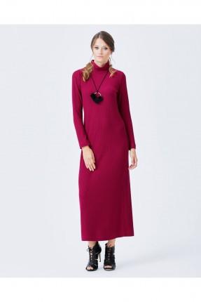 فستان طويل - فوشي