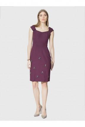 فستان قصير - خمري