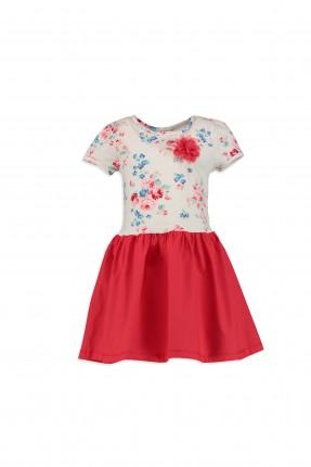 فستان اطفال بناتي - ابيض