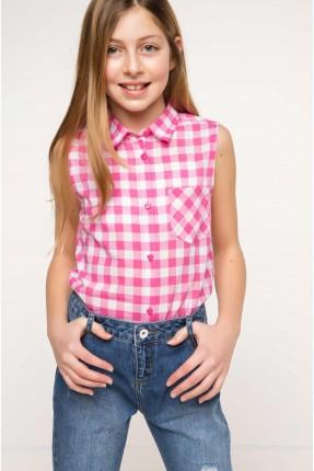 قميص اطفال بناتي كارو