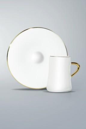 طقم فناجين قهوة 6 اشخاص - ذهبي