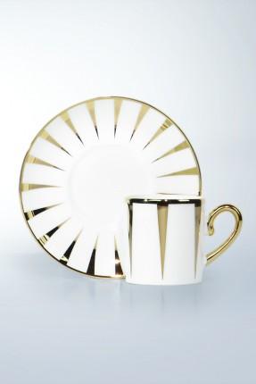 طقم فناجين قهوة 12 شخص - مزخرف ذهبي