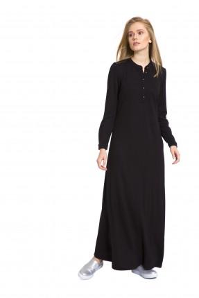 فستان طويل سبور - اسود