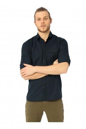 قميص رجالي - نيلي