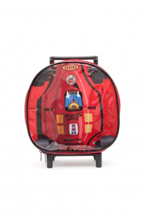 حقيبة مدرسية اطفال ولادي - احمر