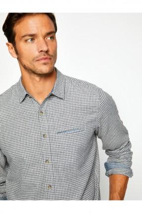 قميص رجالي - رمادي