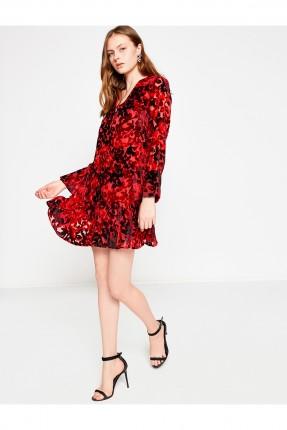 فستان كم طويل - خمري