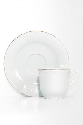 طقم شاي 6 اشخاص - ابيض