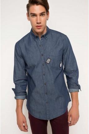 قميص رجالي - كحلي