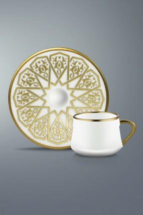 طقم قهوة 12 شخص - مزخرف ذهبي