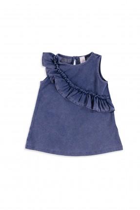 فستان بيبي بناتي - ازرق
