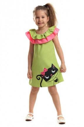 فستان اطفال بناتي - اخضر