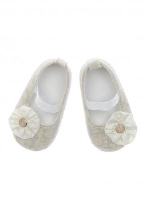 حذاء بيبي بناتي - بيج