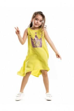 فستان اطفال بناتي مع طبعة تاج الملكة