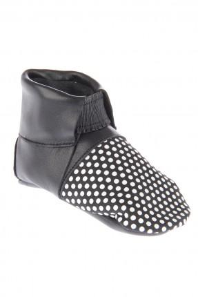 حذاء بيبي بناتي - ابيض واسود