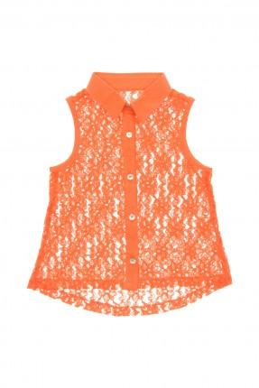 قميص اطفال بناتي - برتقالي