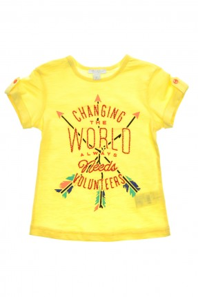 تيشرت اطفال بناتي - اصفر