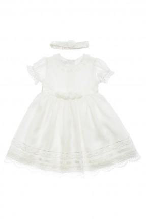 فستان بيبي بناتي - ابيض