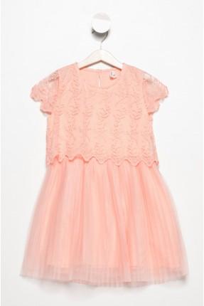 فستان اطفال بناتي - وردي