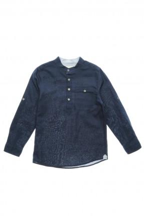 قميص اطفال ولادي - ازرق داكن