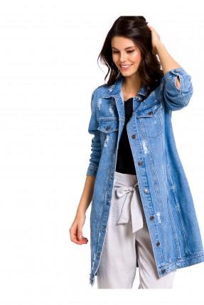 جاكيت نسائي جينز - ازرق