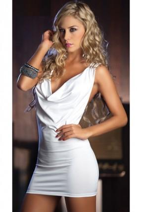 فستان لانجري - ابيض