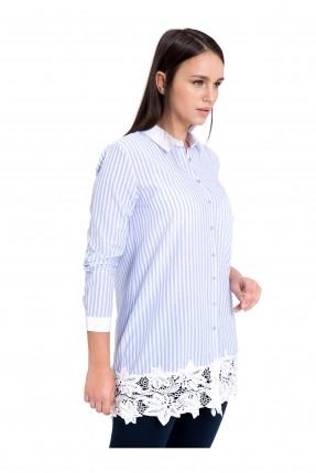 قميص نسائي مع دانتيل