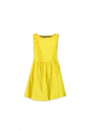 فستان اطفال بناتي مع شراشيب _ اصفر
