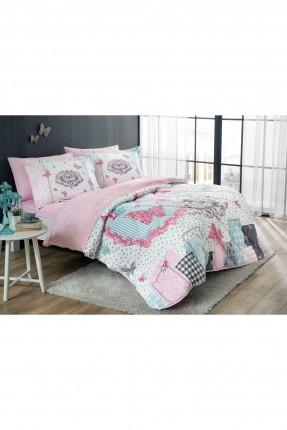 طقم غطاء سرير مزدوج مع لحاف / 5 قطع / قطن - بوليستر