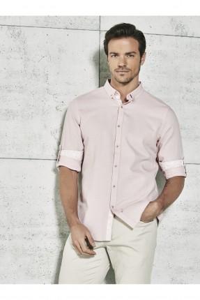 قميص رجالي _ زهري