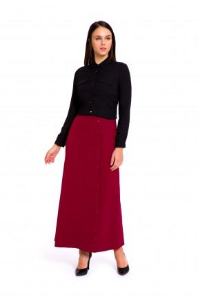 تنورة طويلة - خمري