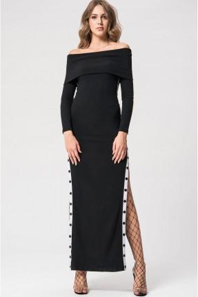 فستان سبور طويل - اسود