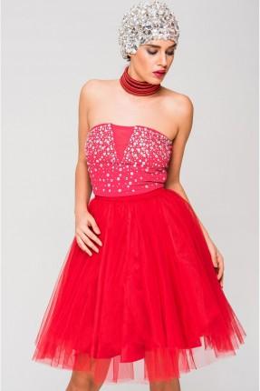 تنورة قصير فلو - احمر