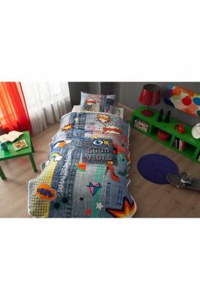 طقم بطانية سرير مفرد برسومات