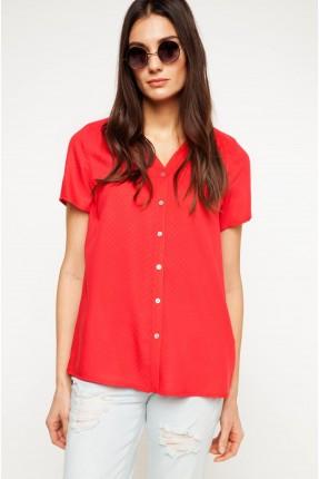 قميص نسائي - احمر