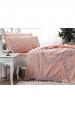 طقم بطانية سرير مزدوج  - وردي
