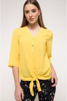 قميص نسائي - اصفر