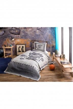 طقم غطاء سرير اطفال ولادي مع رسمة