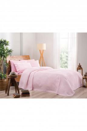 طقم بطانية سرير مزدوج فاخر - وردي