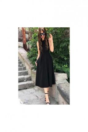 فستان حفر - اسود