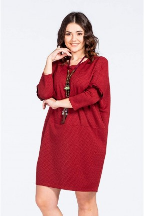 فستان قصير سبور - احمر