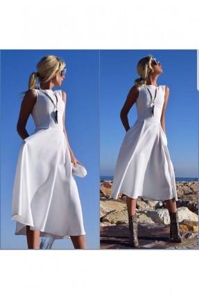 فستان سبور- ابيض