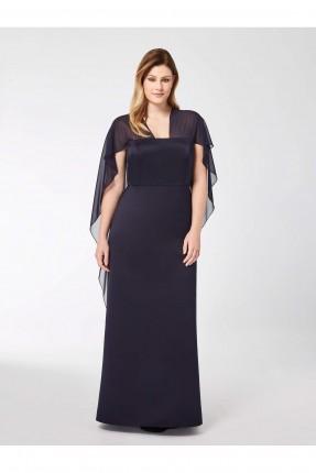 فستان باكمام شيفون - اسود