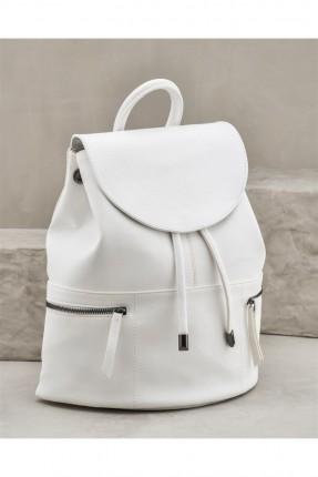 حقيبة ظهر نسائية - ابيض